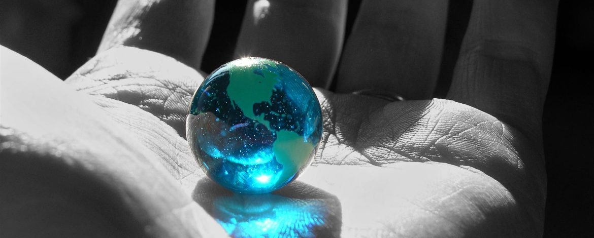 World Marble in Hand