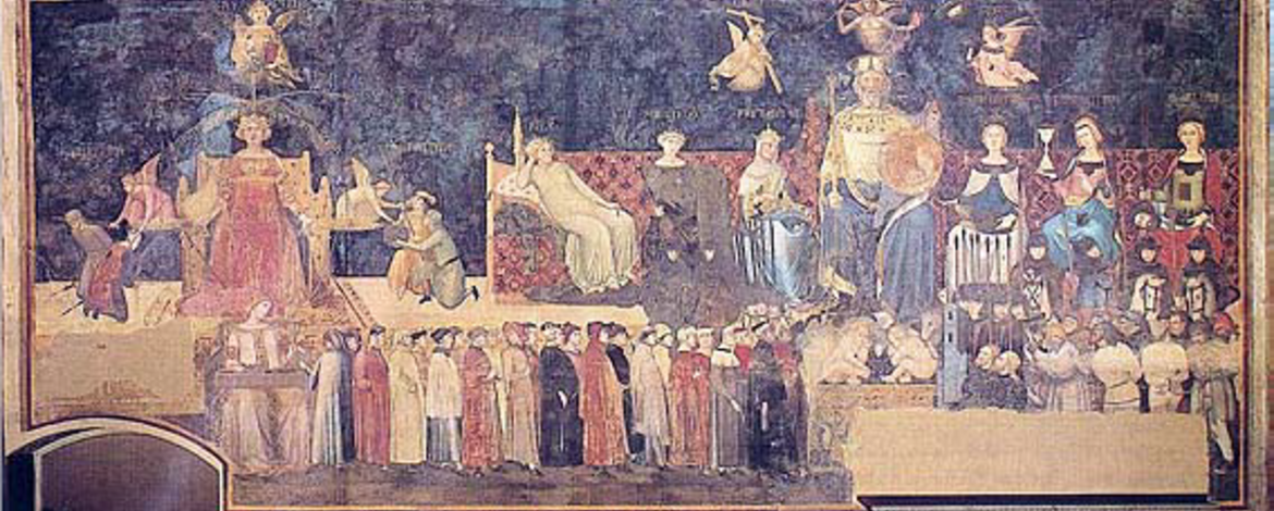 Ambrogio Lorenzetti, Allegory of the Good Government (1338, Siena)